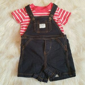 Carter's 12 Month Overalls and Shirt Outfit